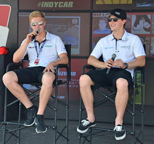 Spencer Pigot and Scott Hargrove engaged in a spirited championship fight all season long in Pro Mazda presented by Cooper Tire (Photo Courtesy of Andersen Promotions)