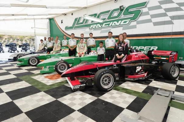 The 2014 edition of Juncos Racing, the Pro Mazda presented by Cooper Tire team champions (Photo Courtesy of Andersen Promotions)